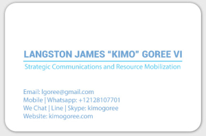 New Business Card Goree