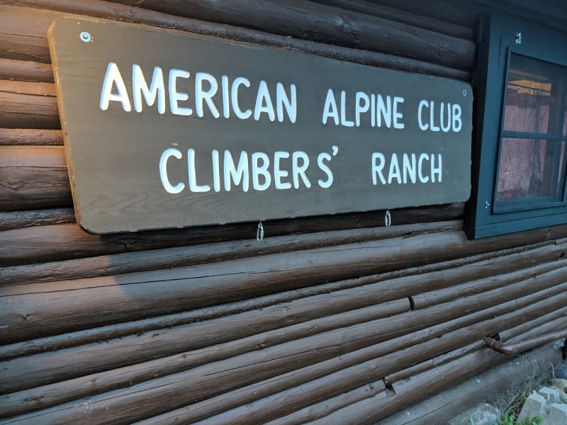 Climbers ranch sign