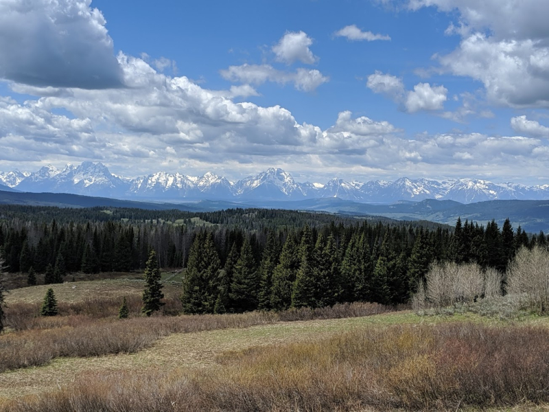First view of Tetons