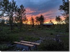 dawn at climber camp Tetons